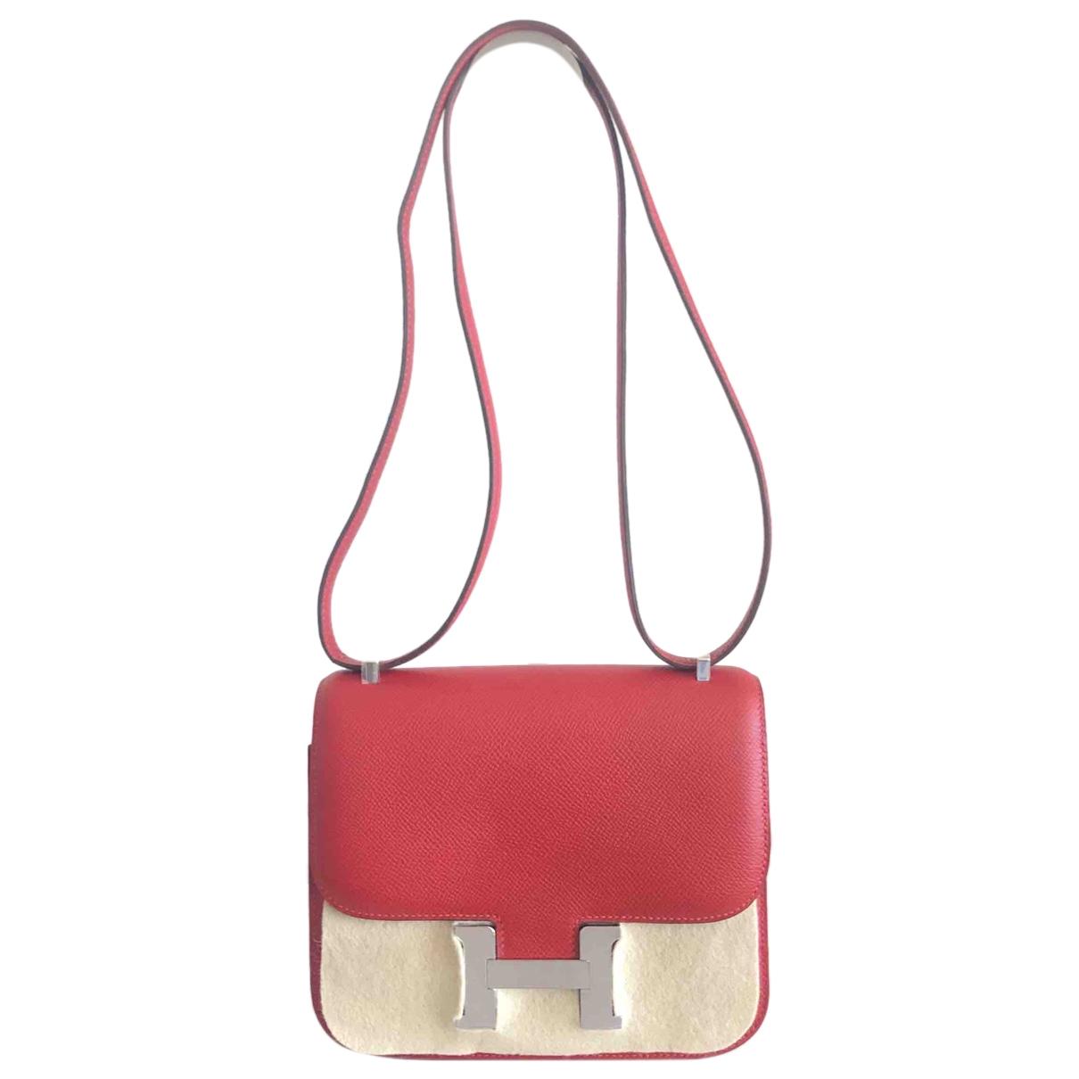Hermès Constance Red Leather handbag for Women N