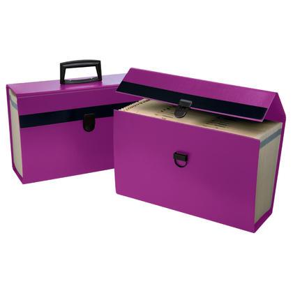 Pendaflex@ Portafile Expanding Organizer, 19 Pockets, For Letter / Legal Size - Purple