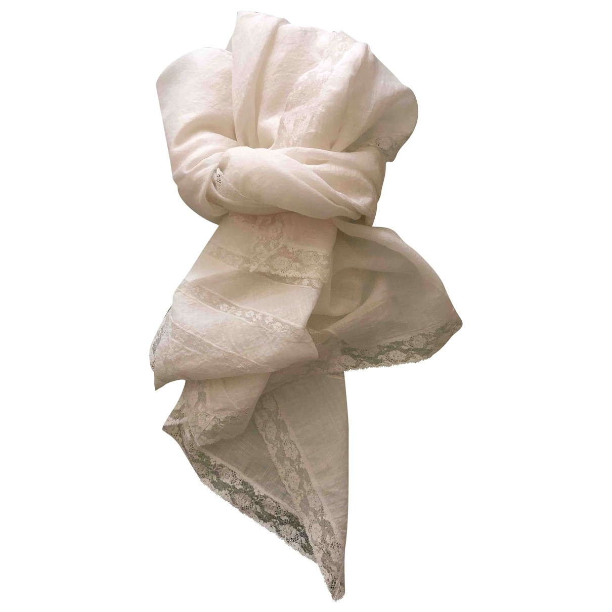 Ermanno Scervino \N White Cotton scarf for Women \N
