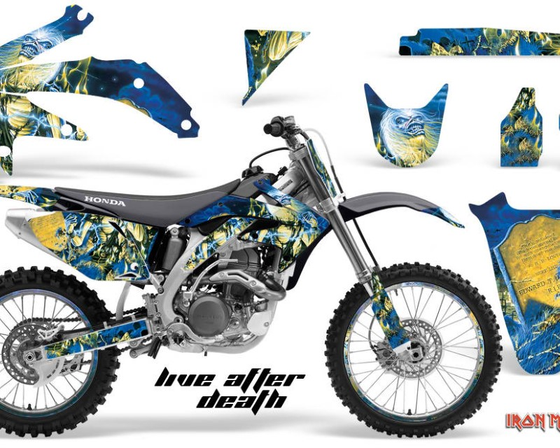 AMR Racing Graphics MX-NP-HON-CRF450R-05-08-IM LAD Kit Decal Sticker Wrap + # Plates For Honda CRF450R 2005-2008áIM LAD