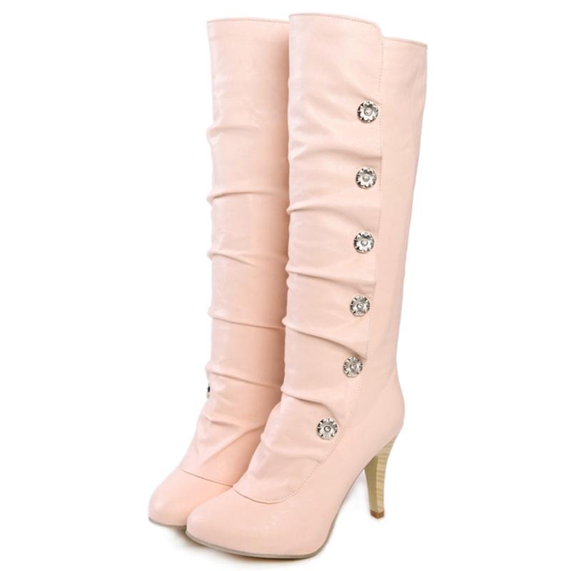 Ericdress Chic Rhinestone Decorated Knee High Boots
