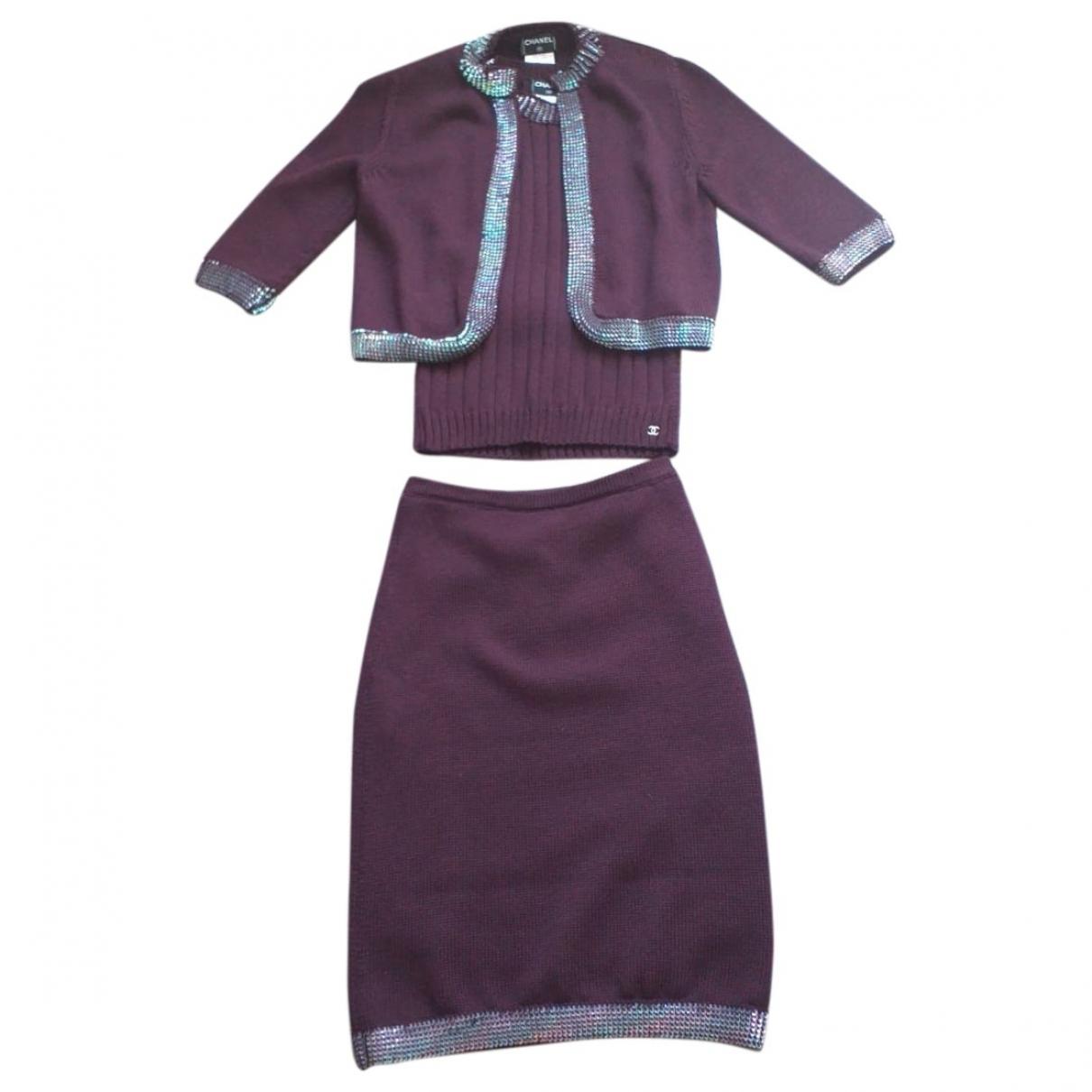 Chanel \N Purple Wool dress for Women 40 FR