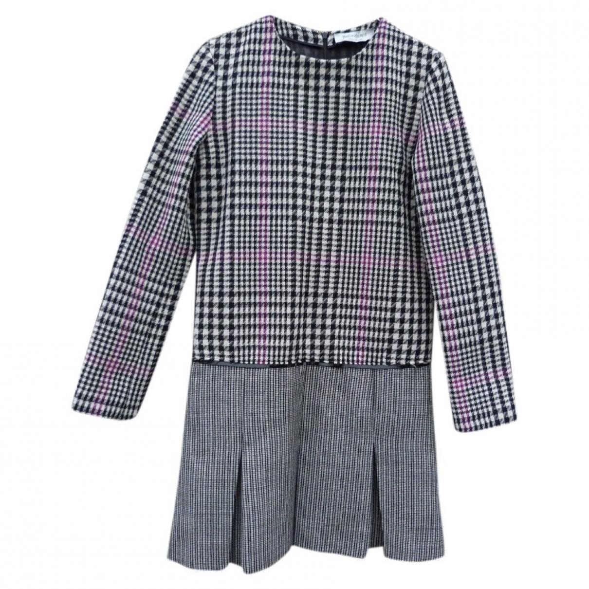 Yves Saint Laurent - Robe   pour femme en laine - gris