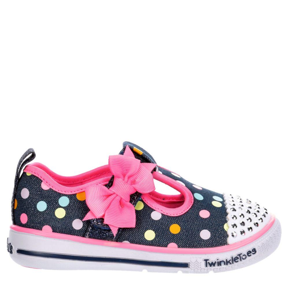 Skechers Kids Girls Twinkle Toes Play 20332N Dmlt Flats Shoes