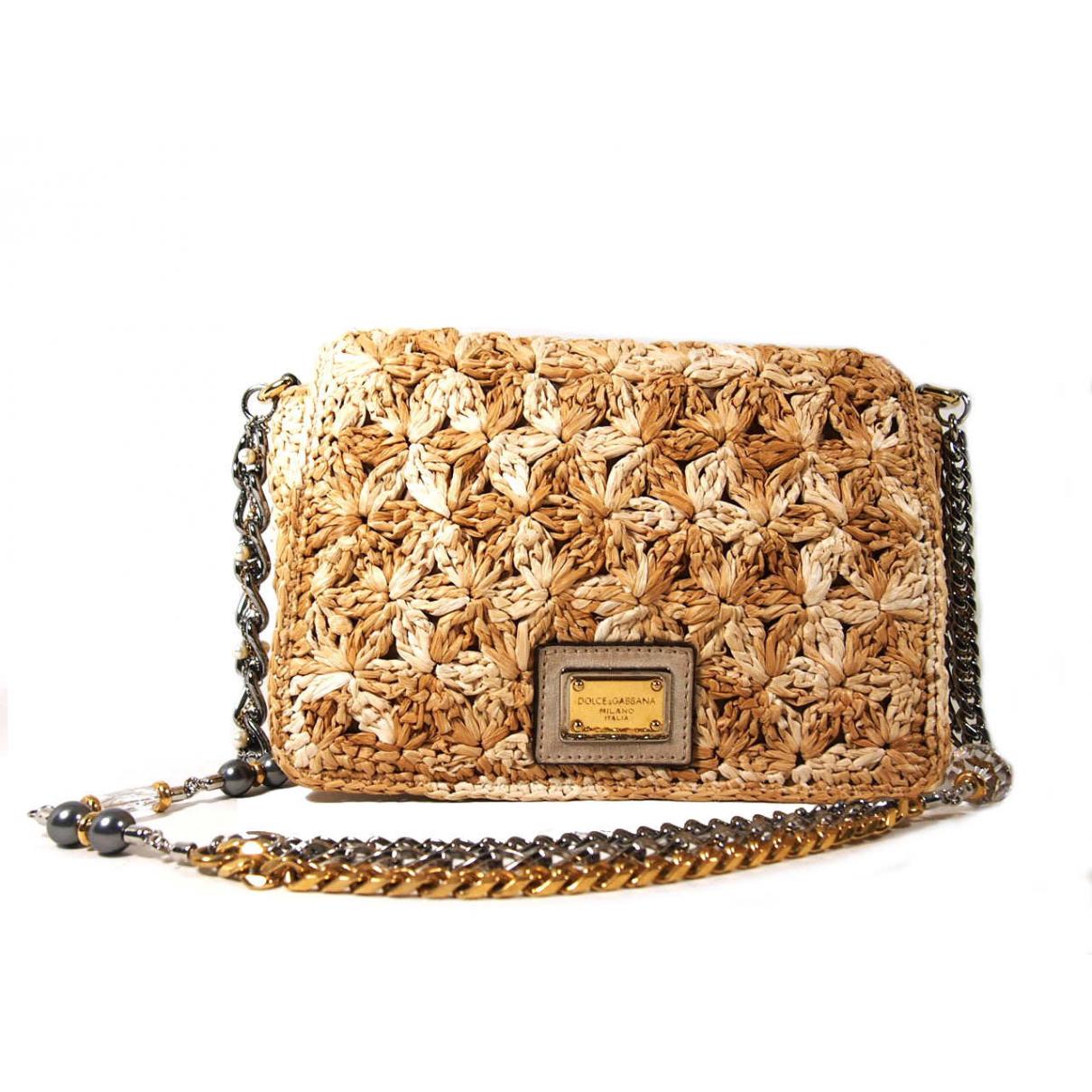 Dolce & Gabbana - Sac a main   pour femme en paille - beige