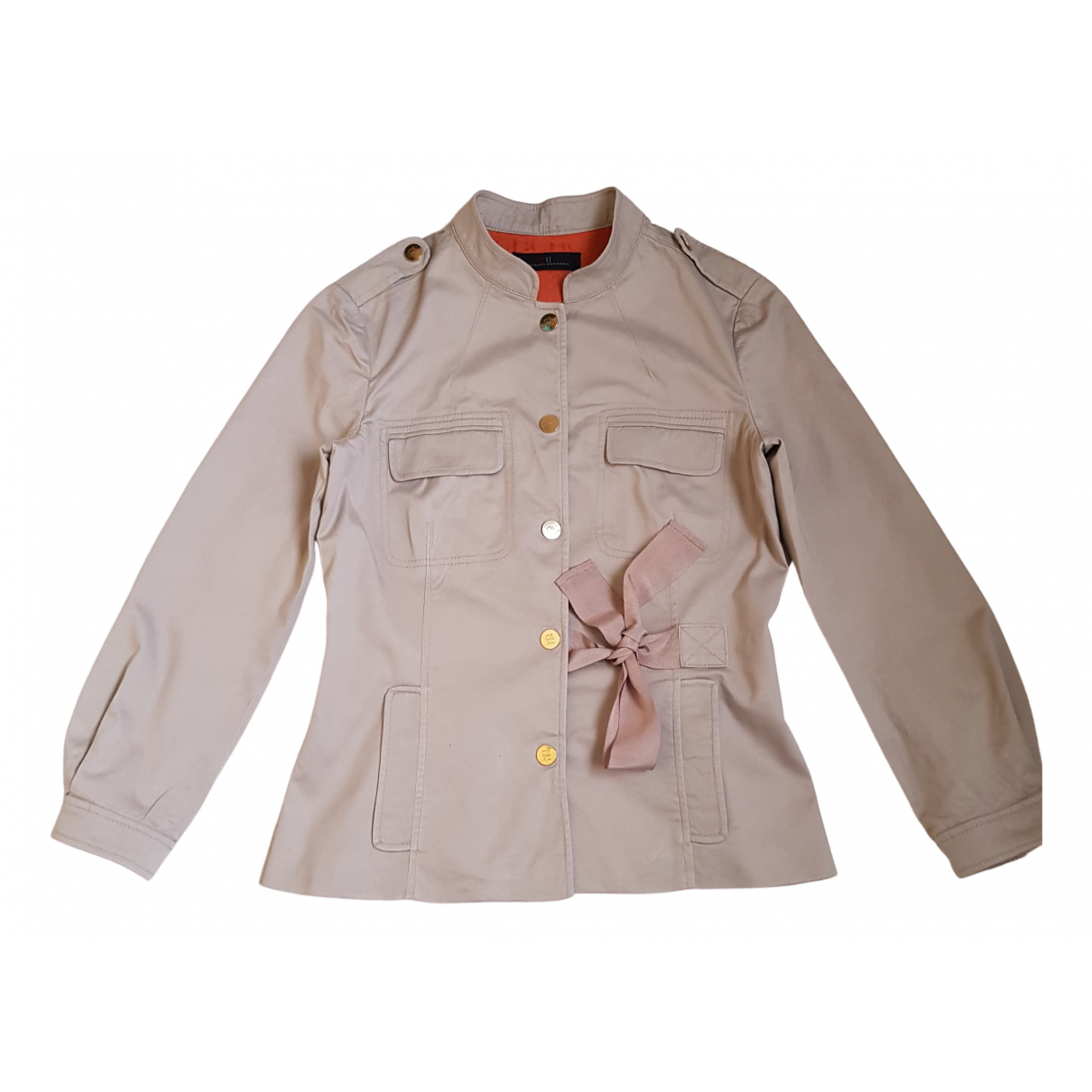 Carolina Herrera - Veste   pour femme en coton - beige