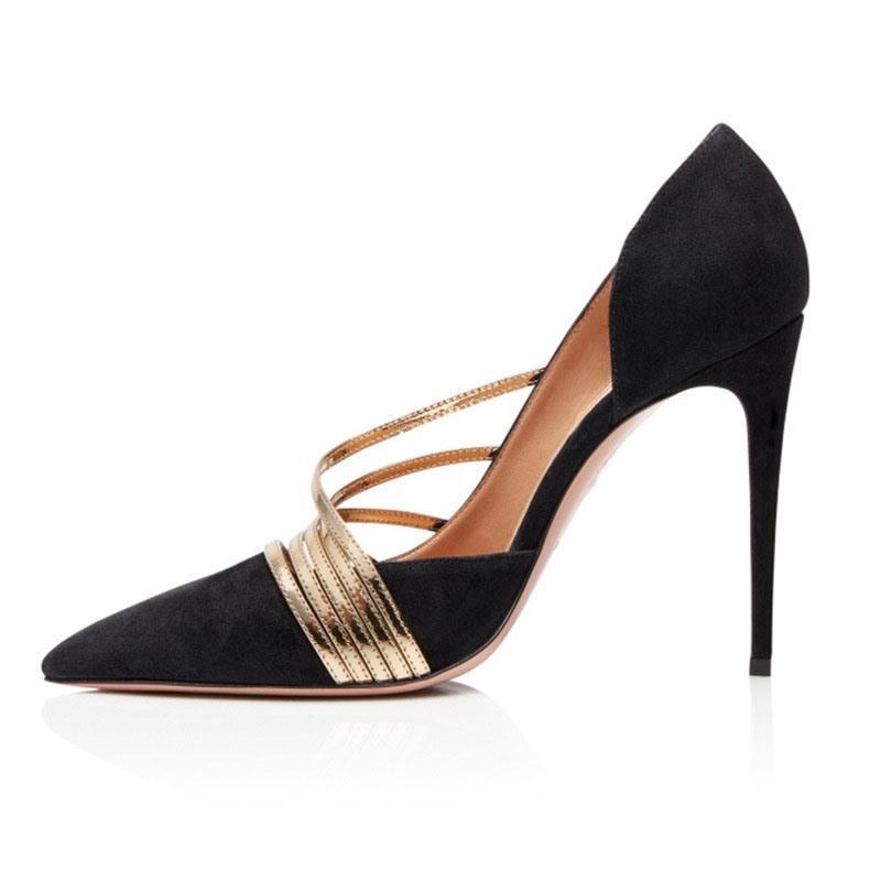 Ericdress Color Block Slip-On Stiletto Heel Low-Cut Upper Prom Shoes