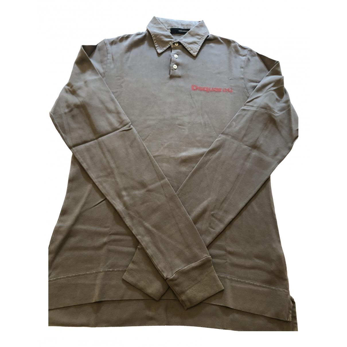 Dsquared2 \N Poloshirts in  Khaki Baumwolle