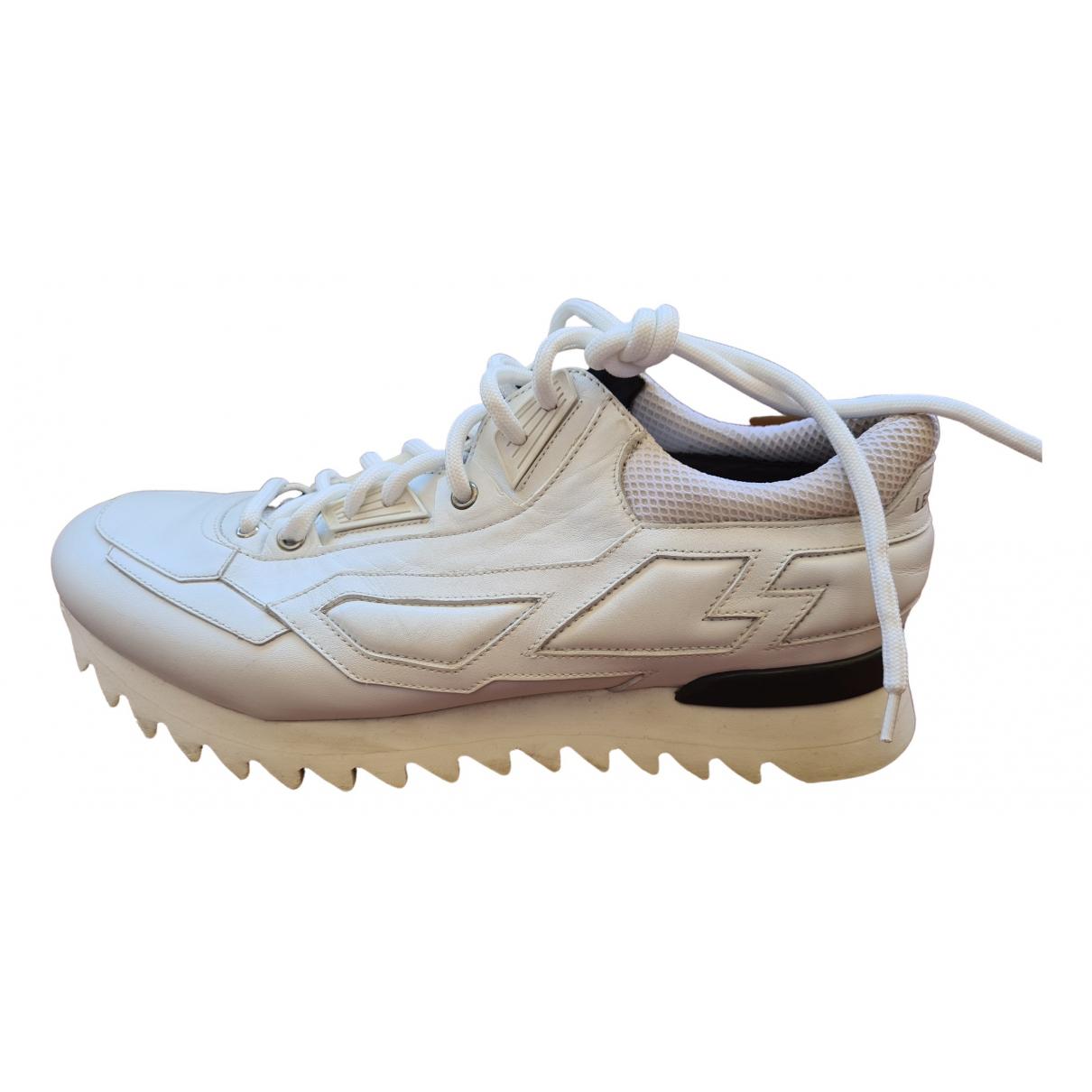 Les Hommes \N Sneakers in  Weiss Leder