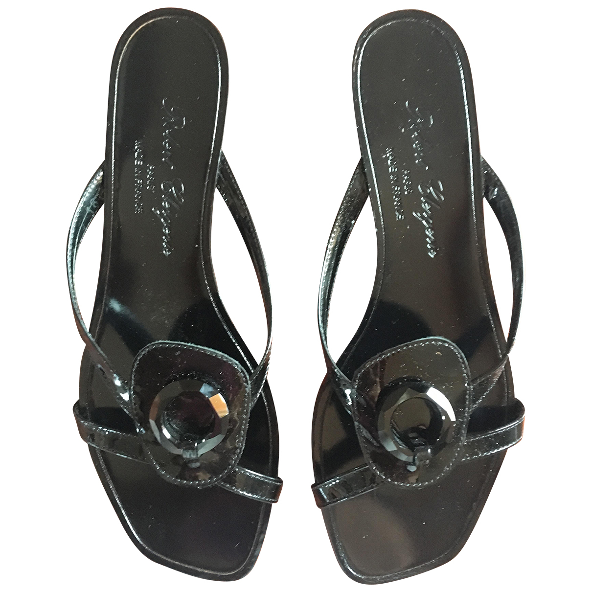 Robert Clergerie \N Black Patent leather Sandals for Women 37 EU