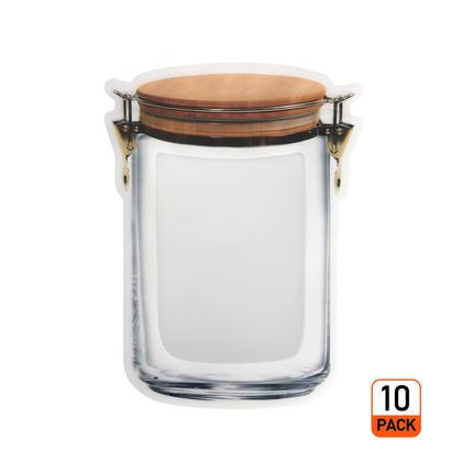 Sac transparent pour sac à fermeture à glissière en forme de bocal, 10 pièces - LIVINGbasics™ - M