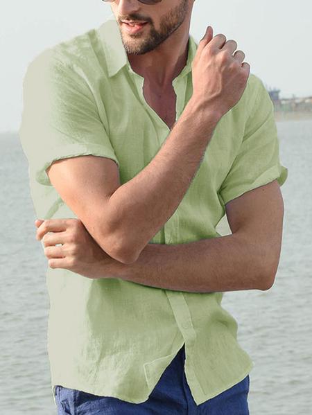Yoins INCERUN Men Short Sleeve Casual Shirt