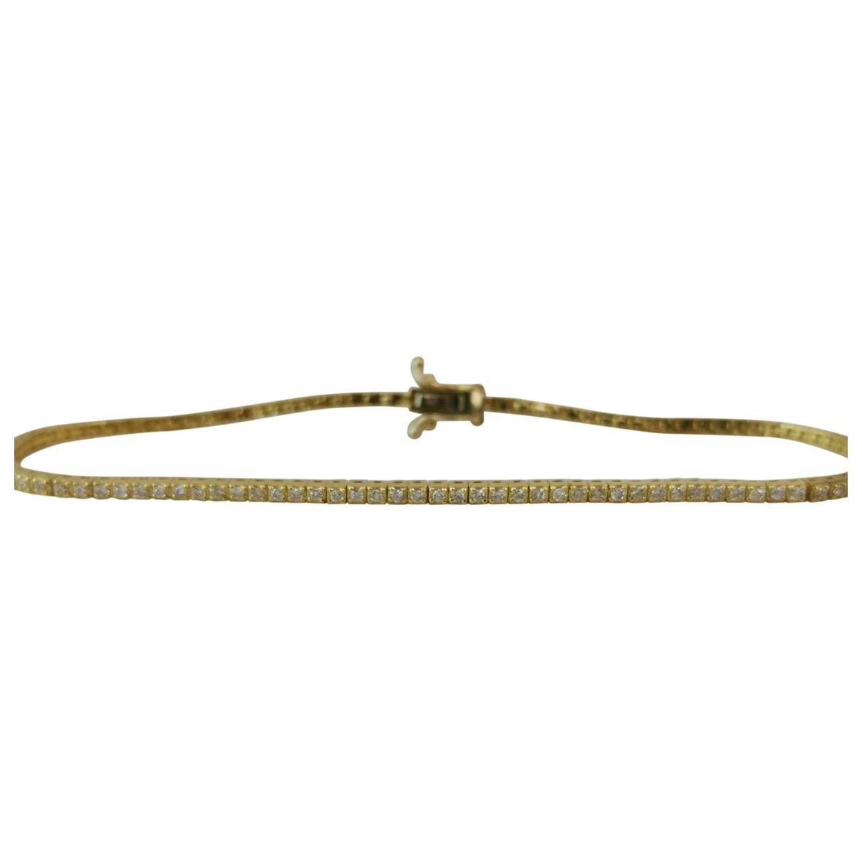 Non Signe / Unsigned Tennis Armband in  Gelb Gelbgold