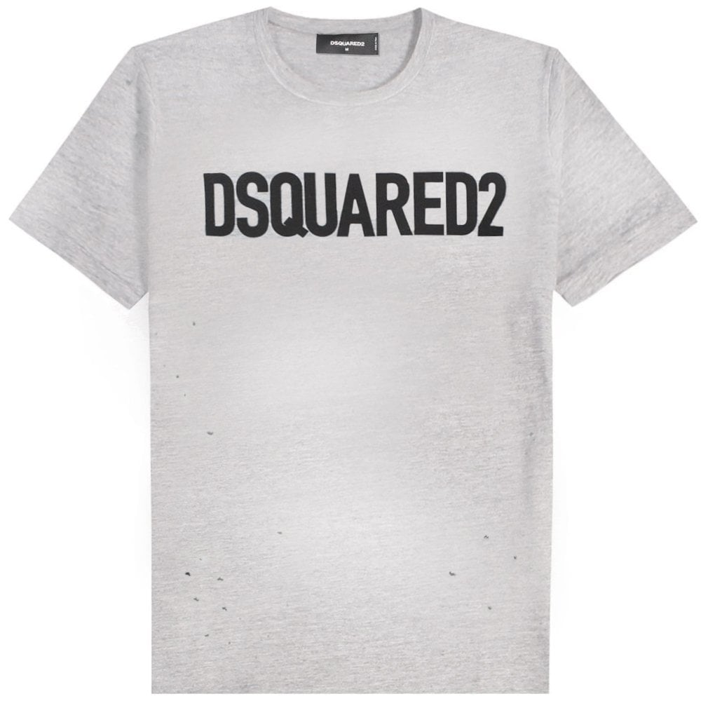 DSquared2 Classic Logo T-Shirt Colour: GREY, Size: EXTRA LARGE