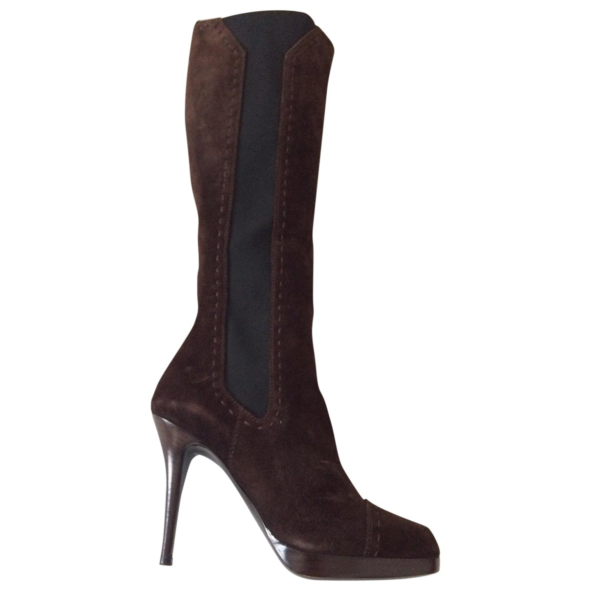 Yves Saint Laurent \N Brown Suede Boots for Women 37 EU