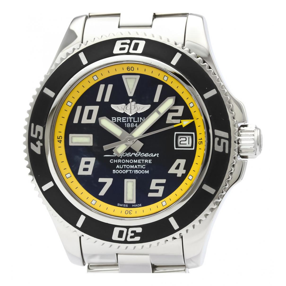 Breitling SuperOcean Uhr in  Schwarz Stahl