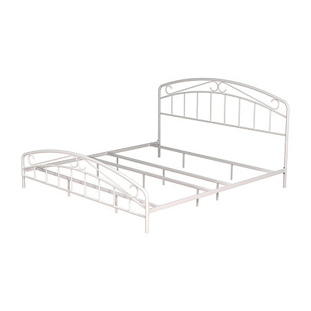 Jollie Complete Metal Bed, One Size , White