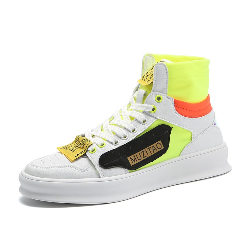 Ericdress Color Block High-Cut Upper Round Toe Men's Skater Shoes