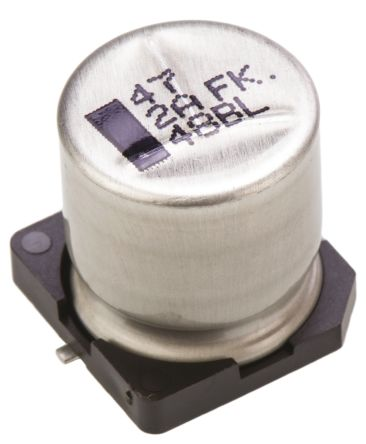Panasonic 47μF Electrolytic Capacitor 100V dc, Surface Mount - EEEFK2A470AQ (5)