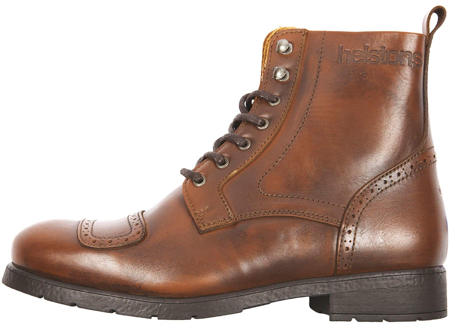 Helstons Travel Aniline Tan Motorcycle Shoes 42