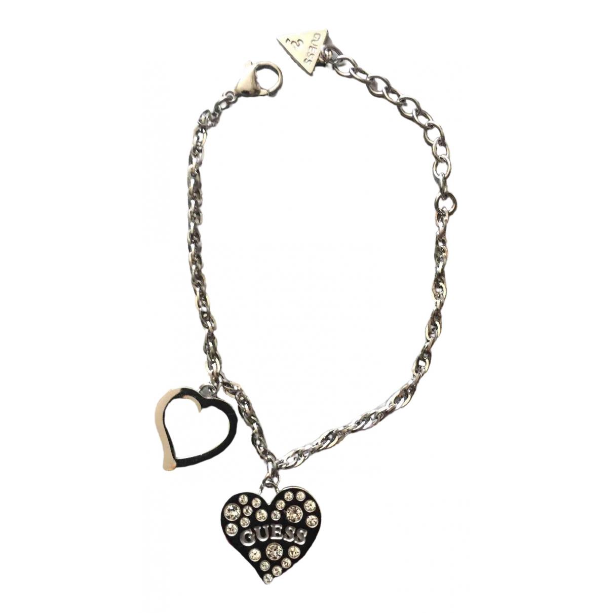 Guess - Bracelet   pour femme en metal - argente