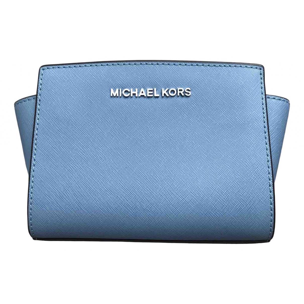 Michael Kors Selma Handtasche in  Blau Leder