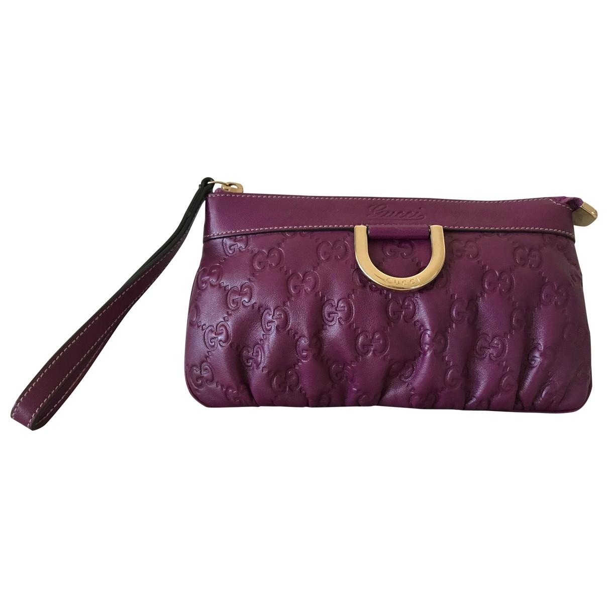 Gucci - Petite maroquinerie   pour femme en cuir - violet
