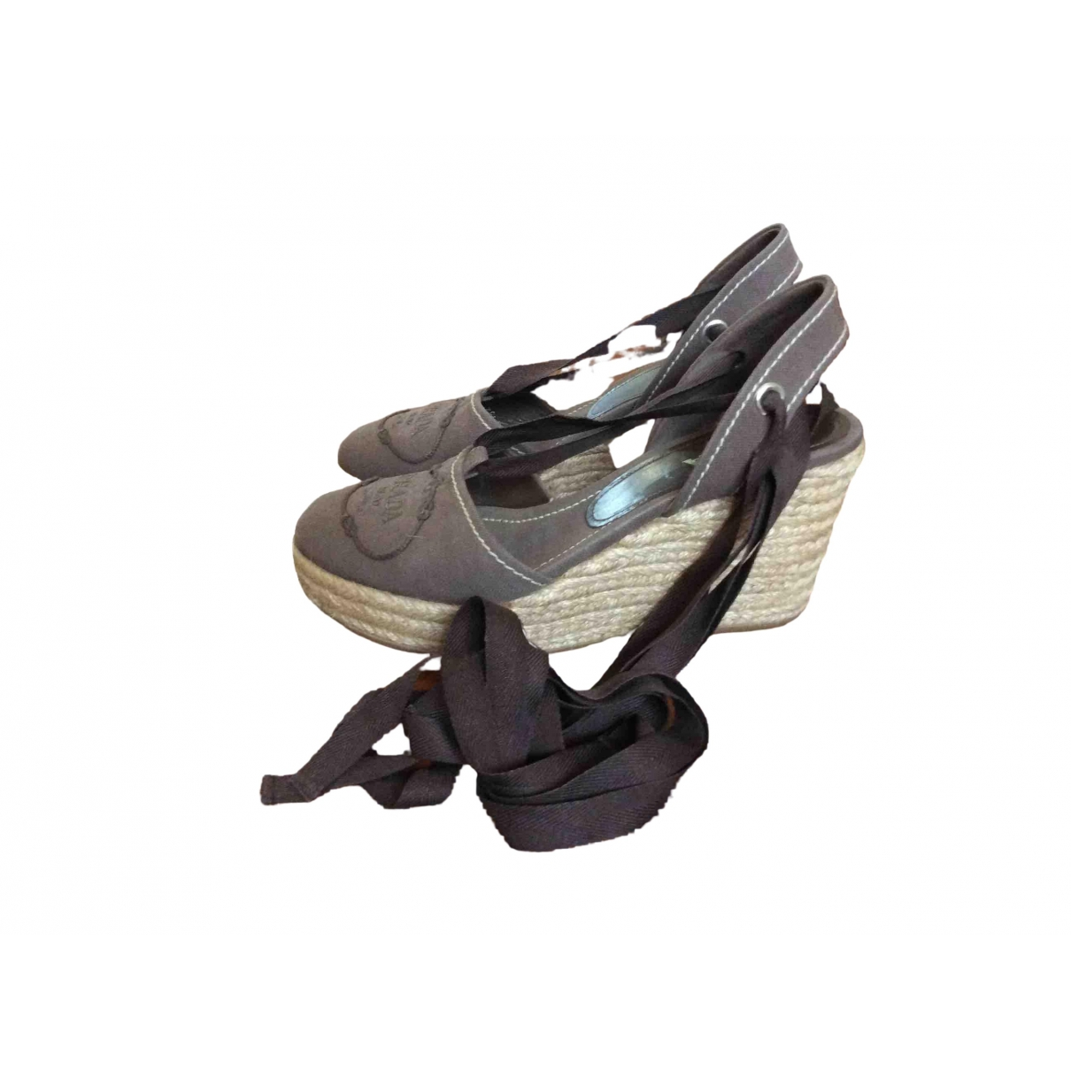 Prada \N Brown Cloth Espadrilles for Women 39.5 IT