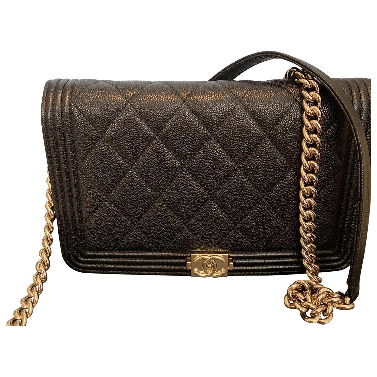 Chanel - Sac a main Wallet on Chain pour femme en cuir - noir