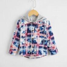 Mantel mit Batik und Karo Muster