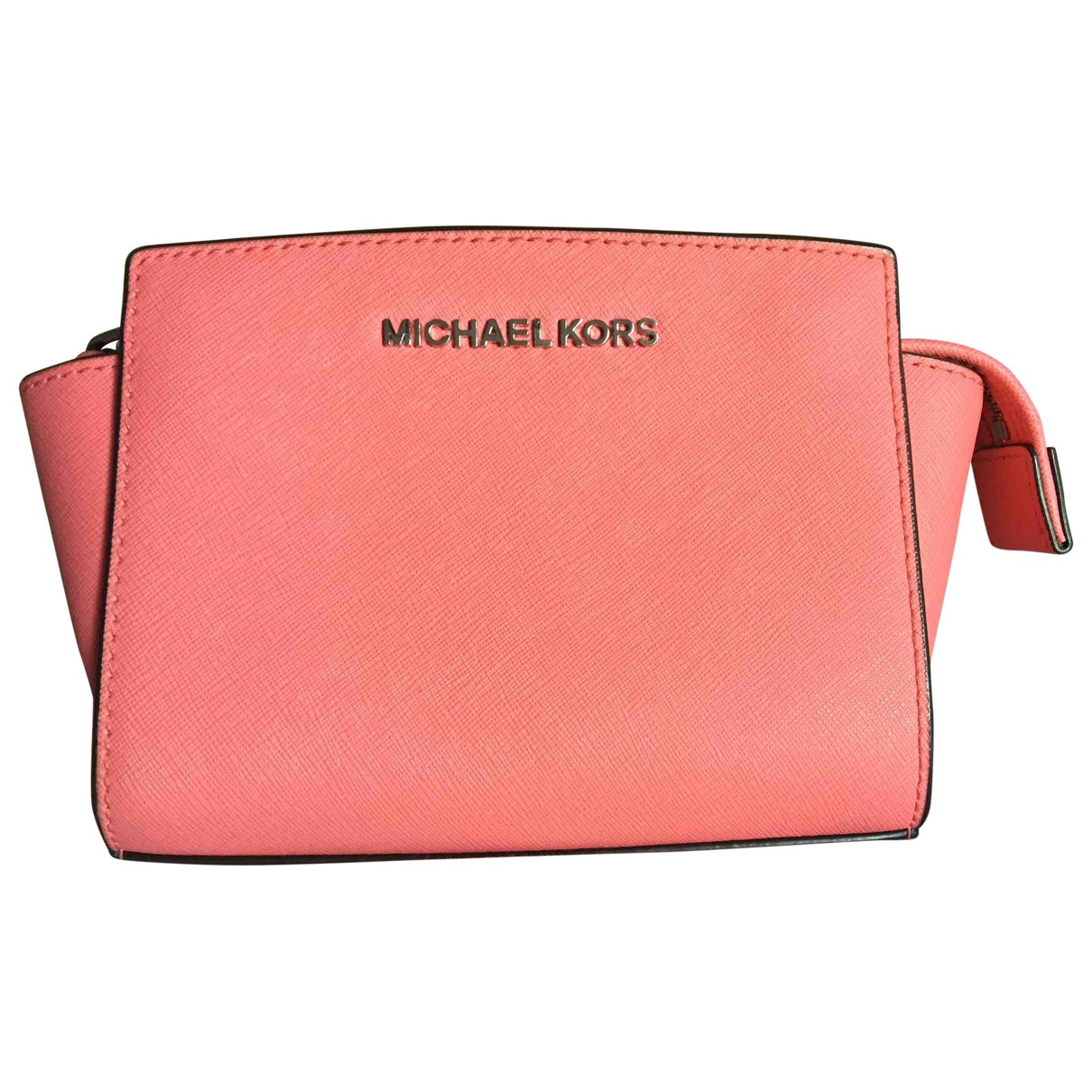 Michael Kors \N Clutch in  Rosa Leder