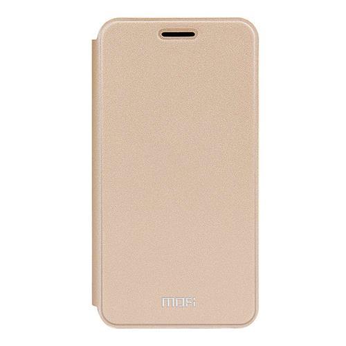 Gold Meizu Meilan M3S Mini Leather Case MOFI Rui Series Flip Stand Protective Cover Screen Protector