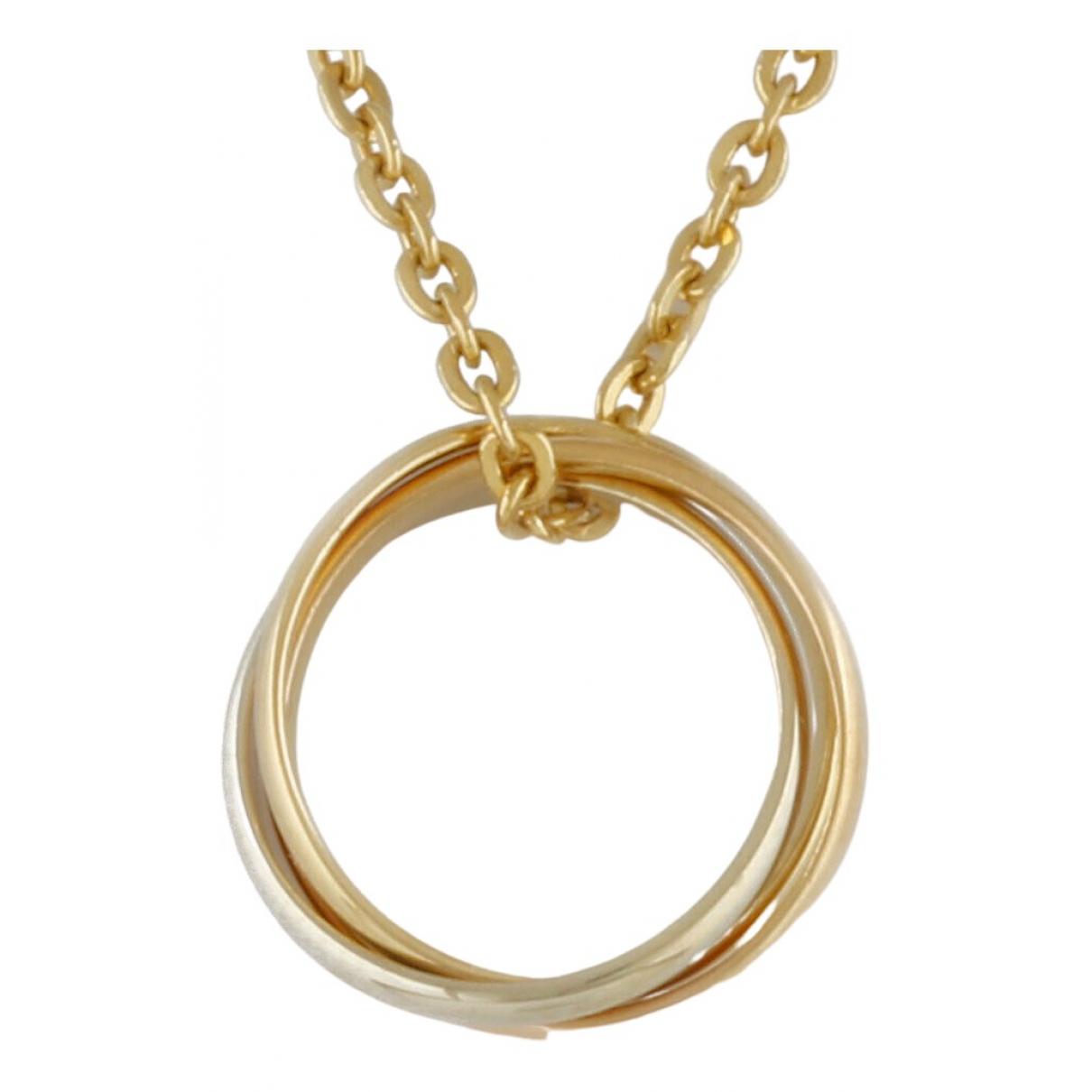 Cartier - Collier Trinity pour femme en or jaune