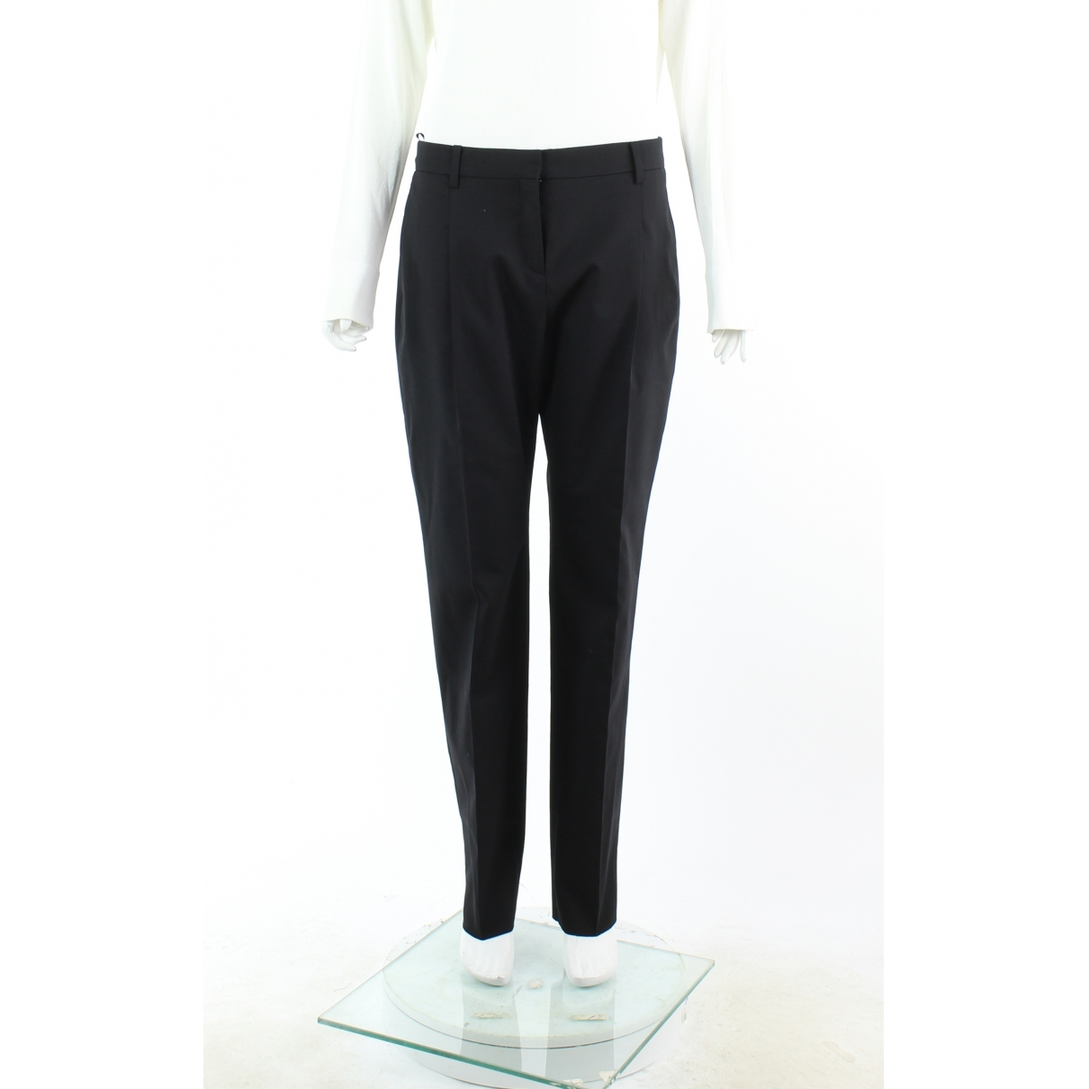 Valentino Garavani \N Black Wool Trousers for Women 42 IT