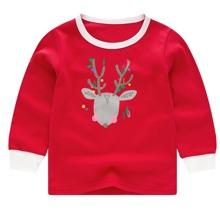 Schlafanzug Set mit Weihnachten Muster und langen Ärmeln