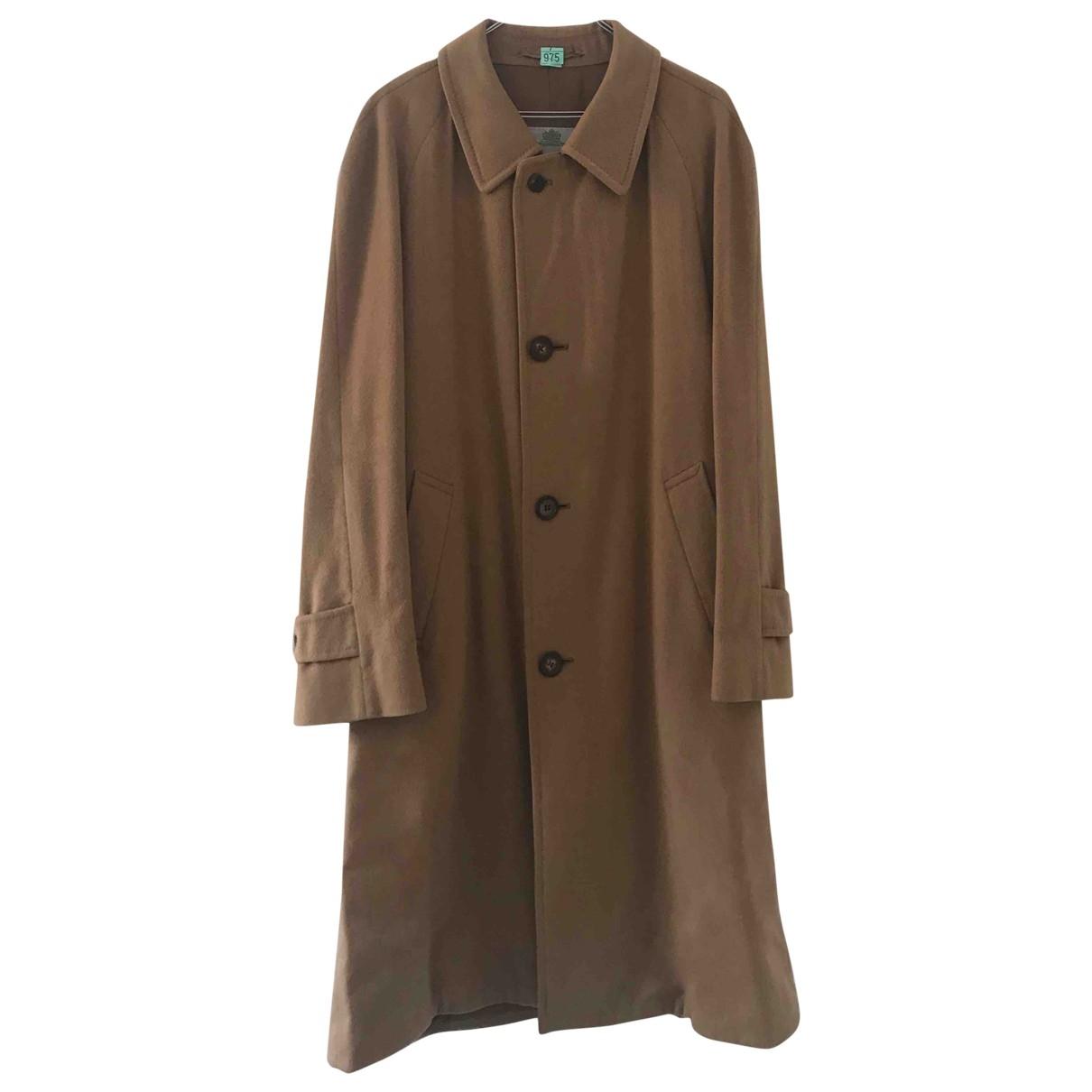 Aquascutum - Manteau   pour homme en cachemire - camel