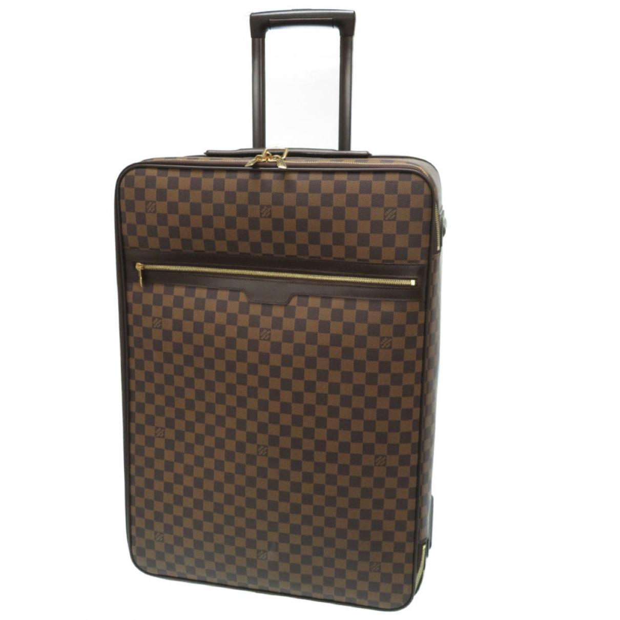 Louis Vuitton Pegase Reisetasche in  Schwarz Leinen