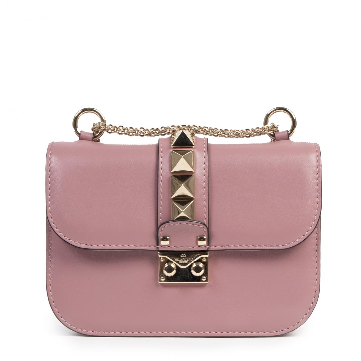 Valentino Garavani Glam Lock Pink Leather handbag for Women \N