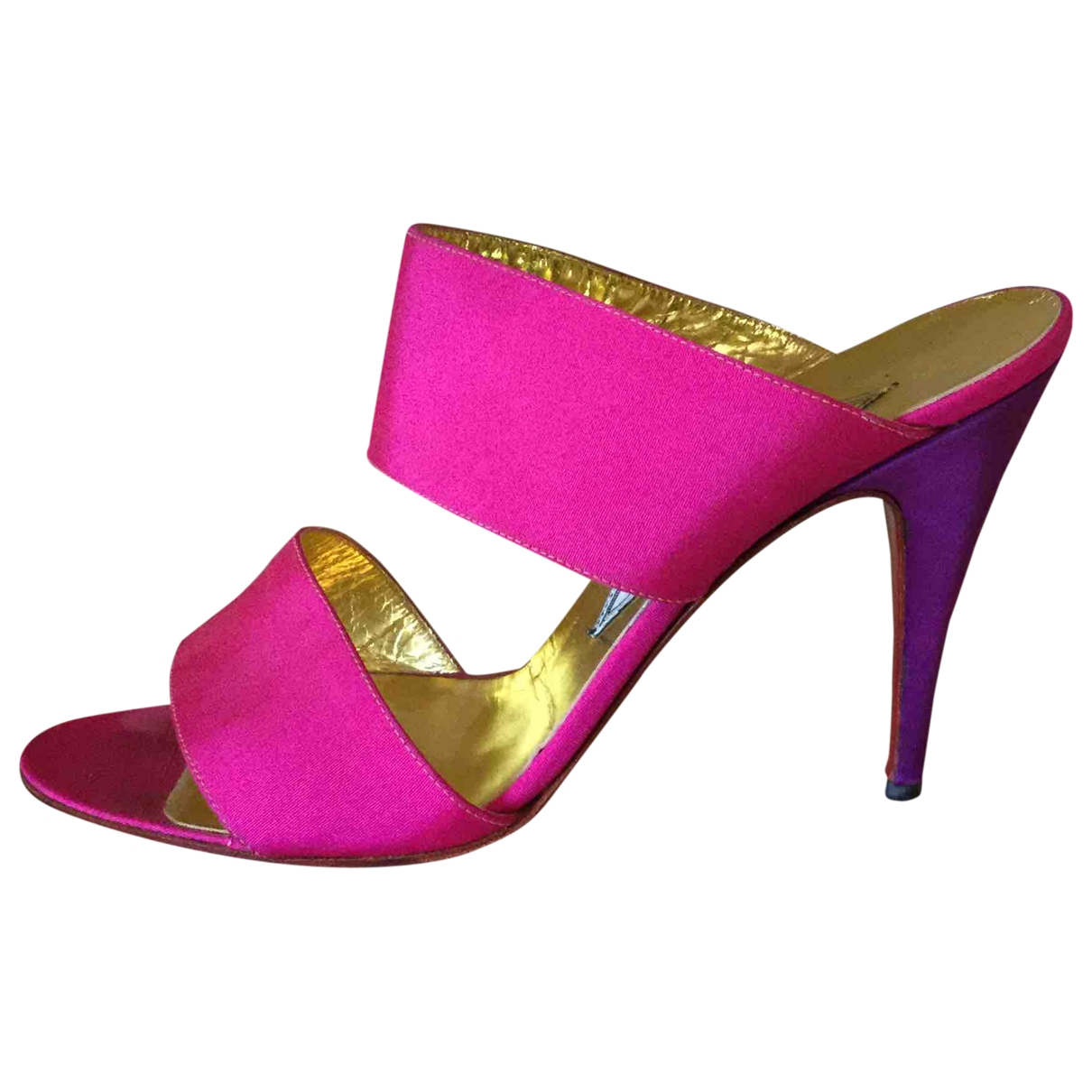 Versace \N Purple Cloth Heels for Women 40 EU