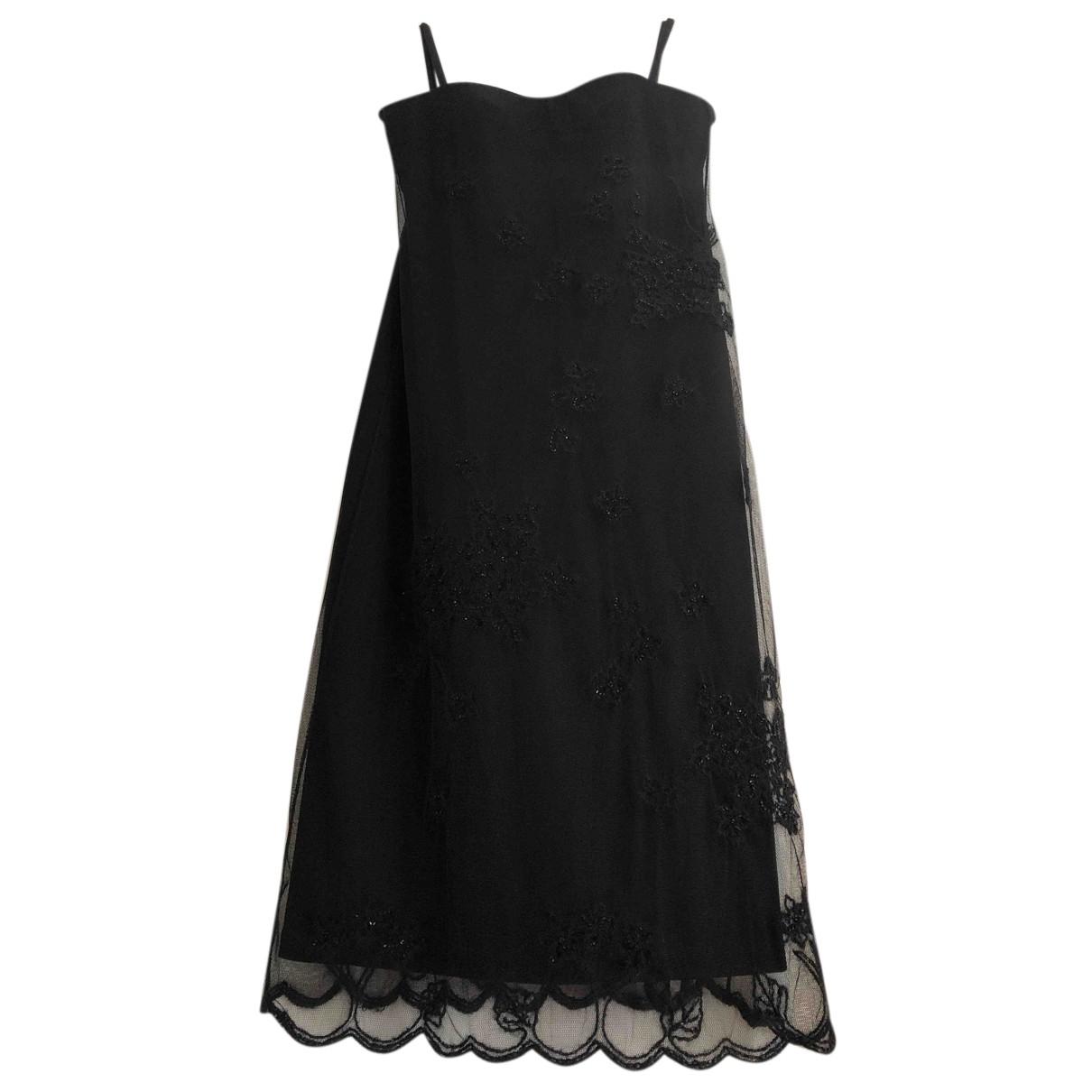 Max Mara \N Kleid in  Schwarz Viskose