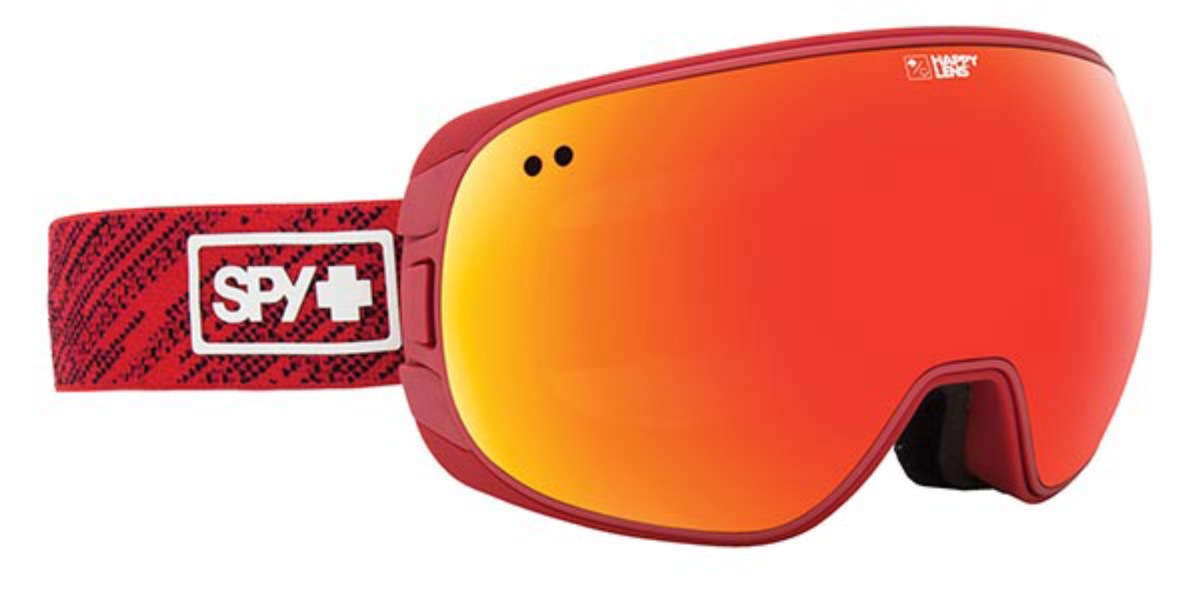 Spy DOOM Spy Knit Red - Happy Gray Green W/ Red Spectra + Happy Yello Men's Sunglasses Red Size Large/Extra Large