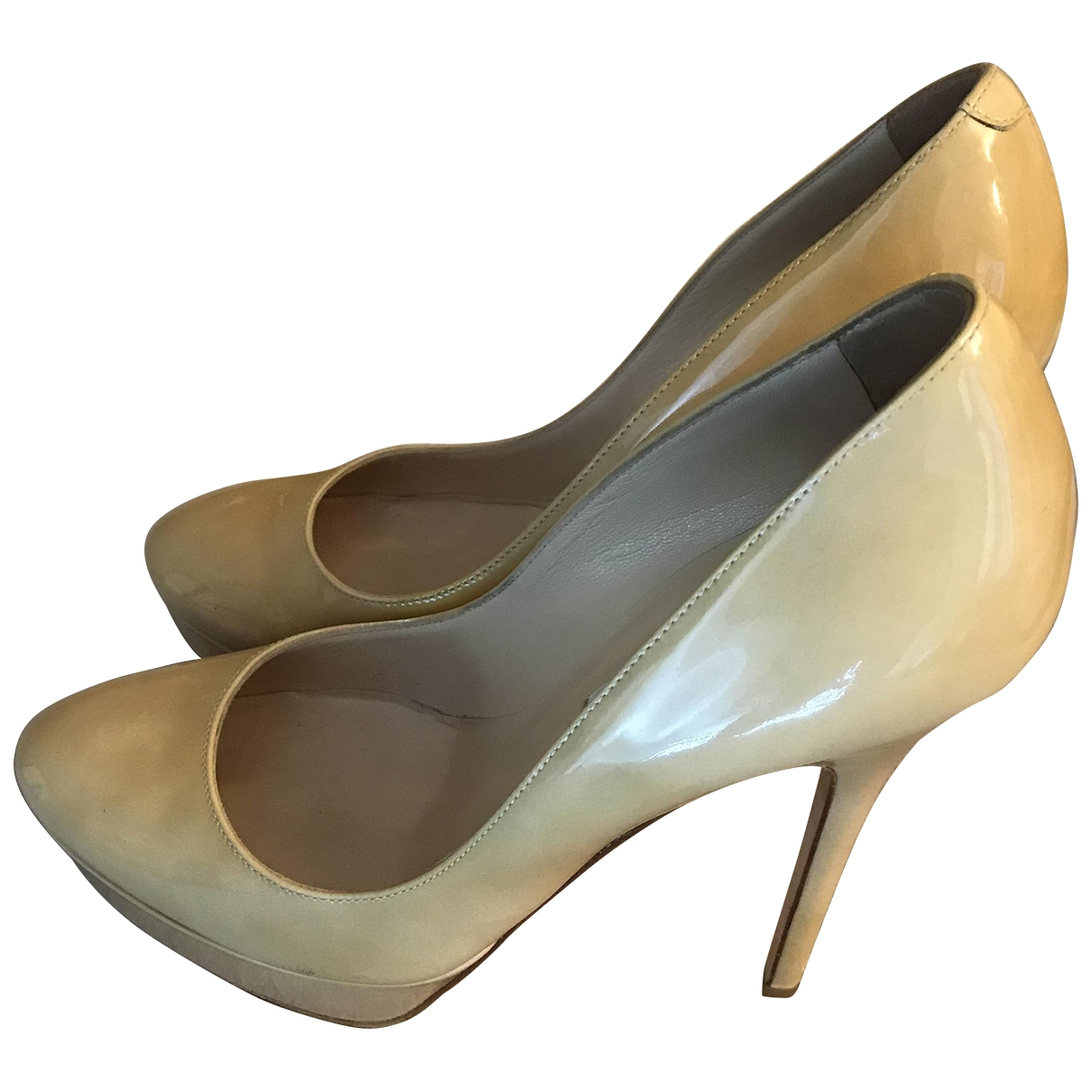 Jimmy Choo \N Beige Patent leather Heels for Women 36.5 EU