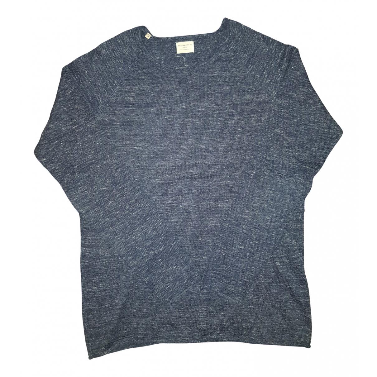 Selected \N Pullover.Westen.Sweatshirts  in  Blau Baumwolle