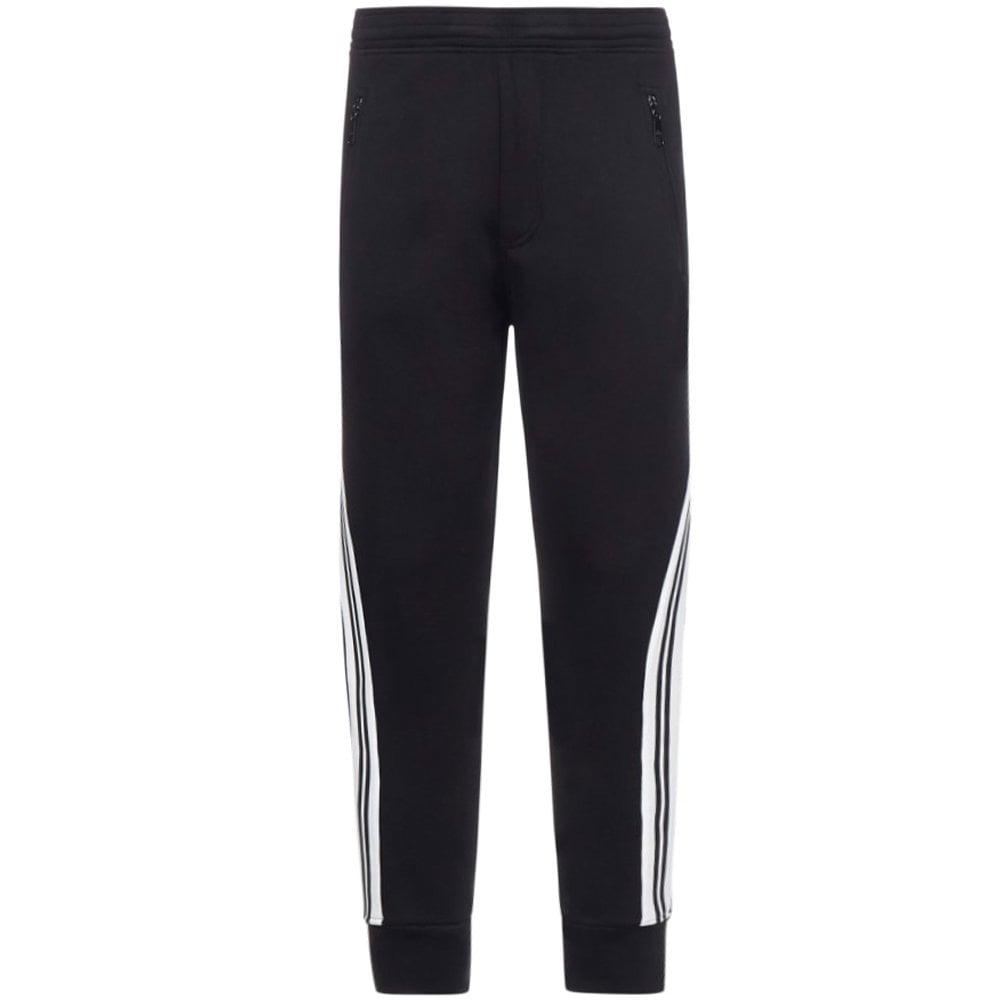 Neil Barrett Stripe Down Joggers Colour: BLACK, Size: LARGE