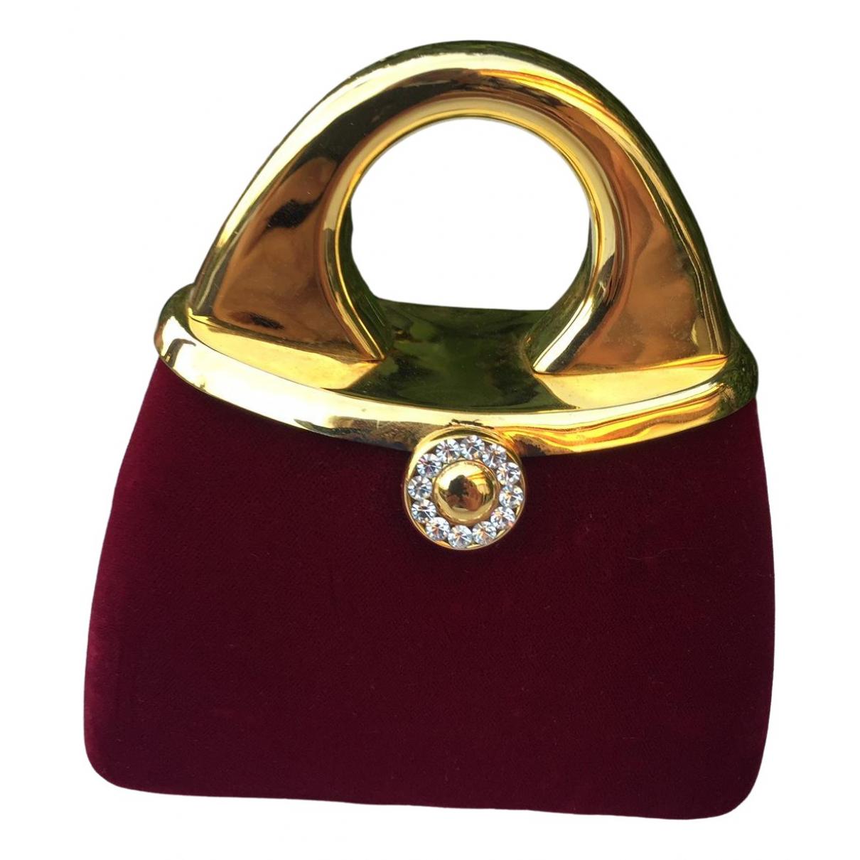 Non Signé / Unsigned \N Red Velvet handbag for Women \N