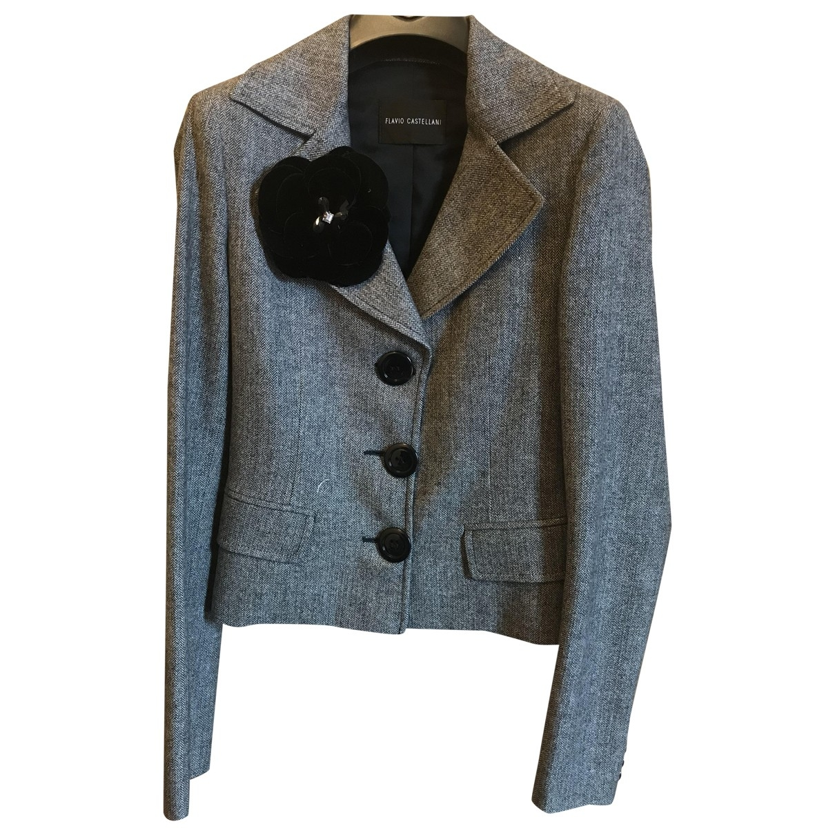 Flavio Castellani \N Grey Wool jacket for Women 40 IT