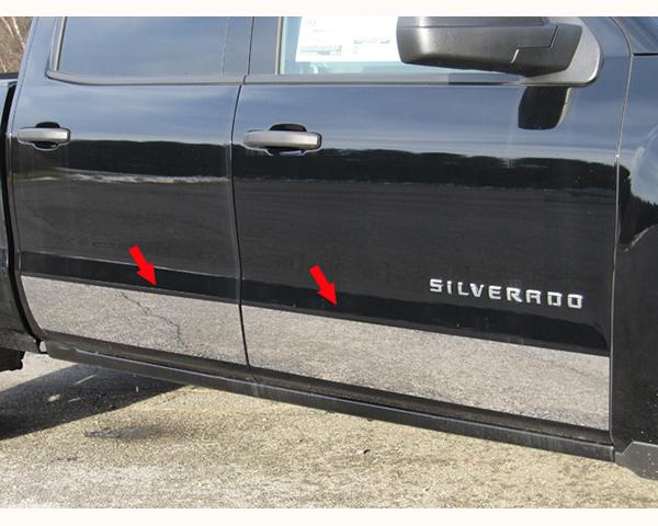 Quality Automotive Accessories 4-Piece Rocker Panel Chevrolet Silverado 3500 2015