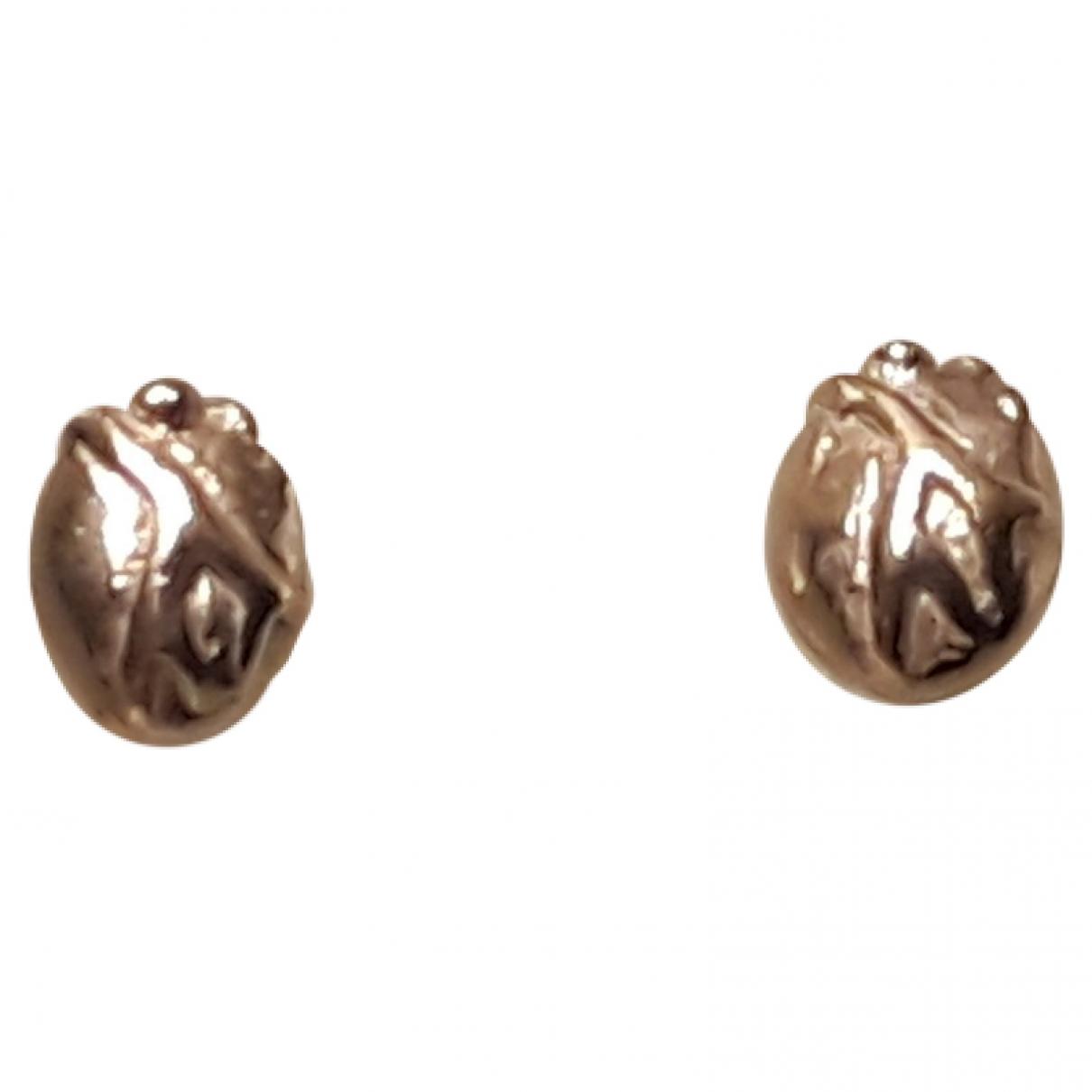 Bjorg - Boucles doreilles   pour femme en argent - dore