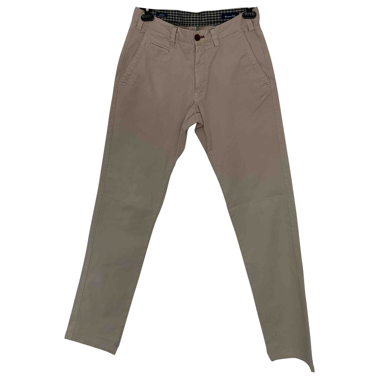 Massimo Dutti \N Beige Cotton Trousers for Men 38 FR