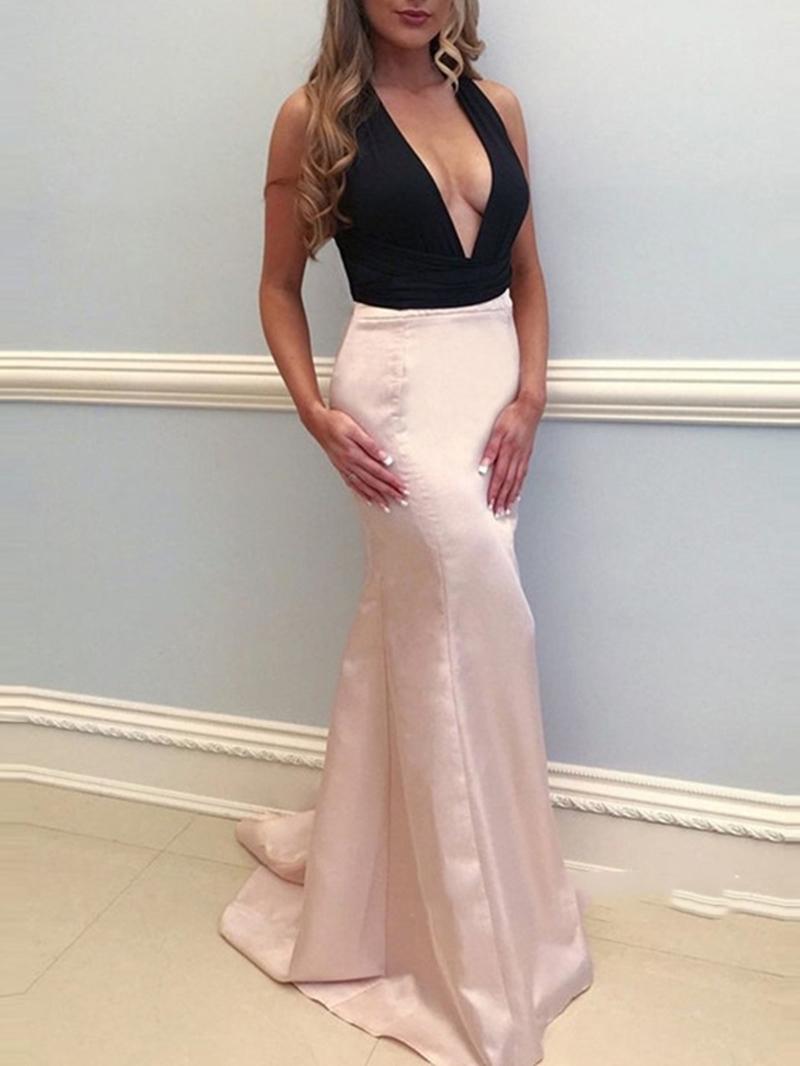 Ericdress Sleeveless Floor-Length Bowknot Evening Dress